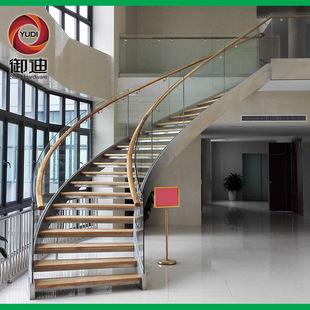 高端品质钢结构大型 弧形楼梯 工程装修不锈钢安全爬梯