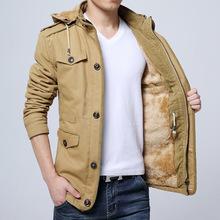 2018新款男士棉衣冬季男装外套中长款棉服加厚纯棉加绒棉袄子批发