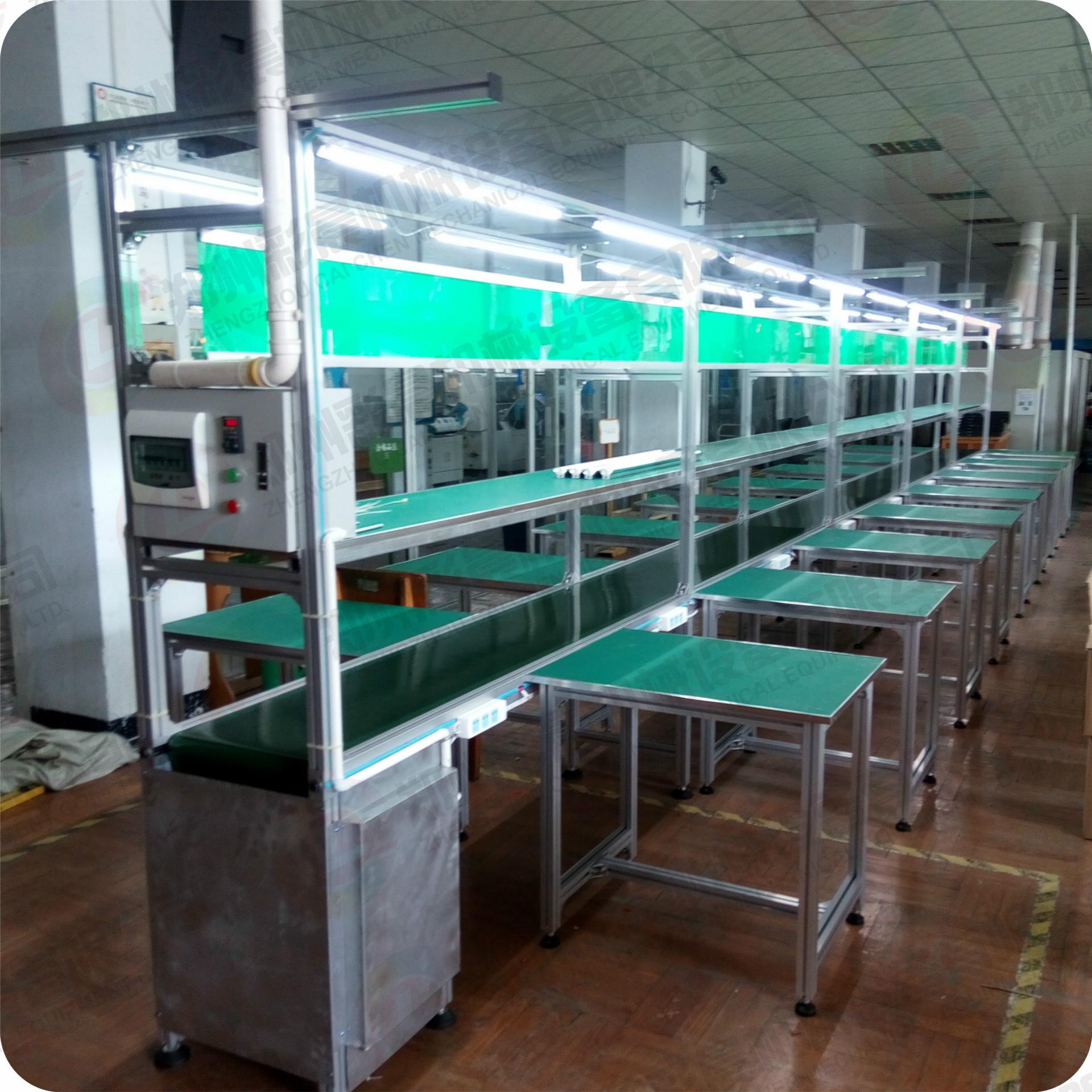 厂家直供 PVC皮带流水线 非标定制自动化设备 电子产品生产线