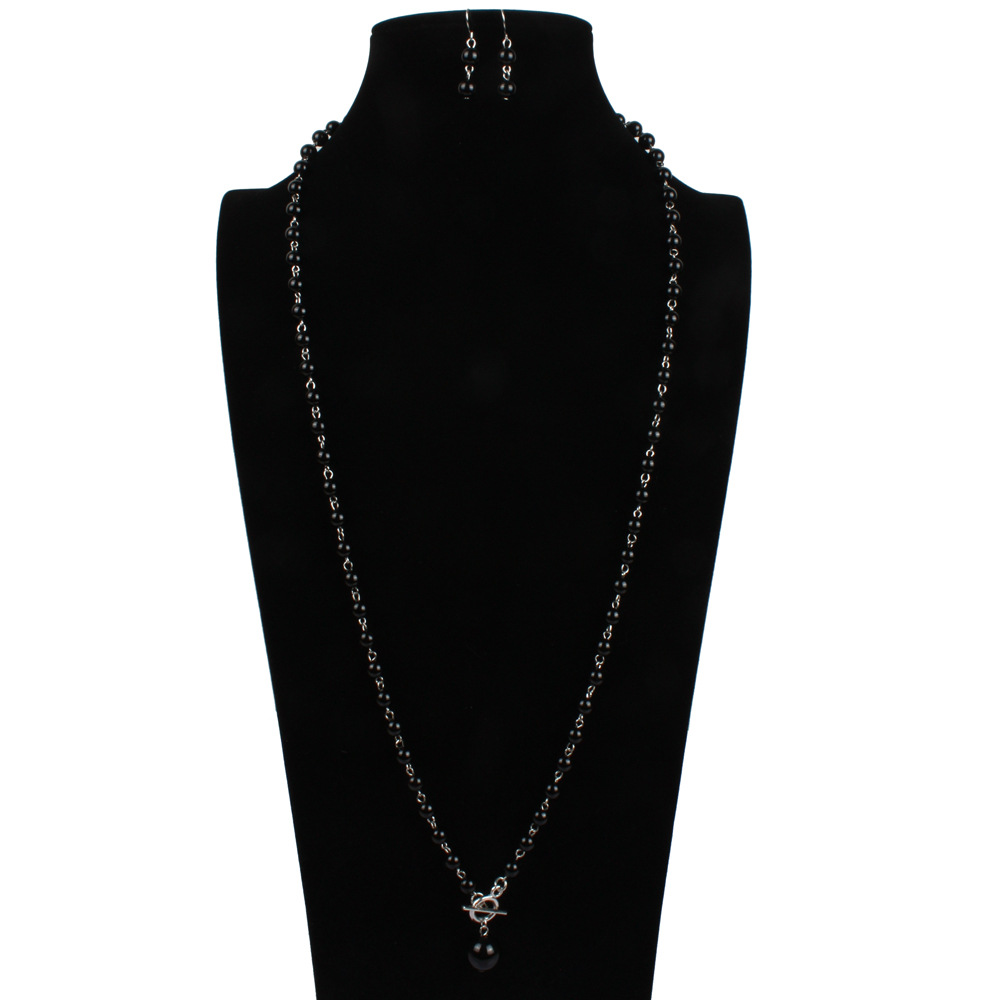 Occident and the United States pearlNecklace Set (red)NHCT0061-red