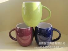 生產創意陶瓷杯雙開模 腰鼓馬克杯 400ML咖啡杯 LOGO定制