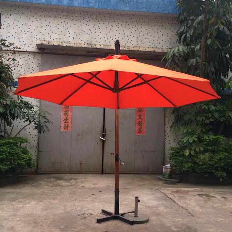 户外岗亭扳手防风遮阳伞 休闲庭院展销广告伞 铝合金遮阳伞批发