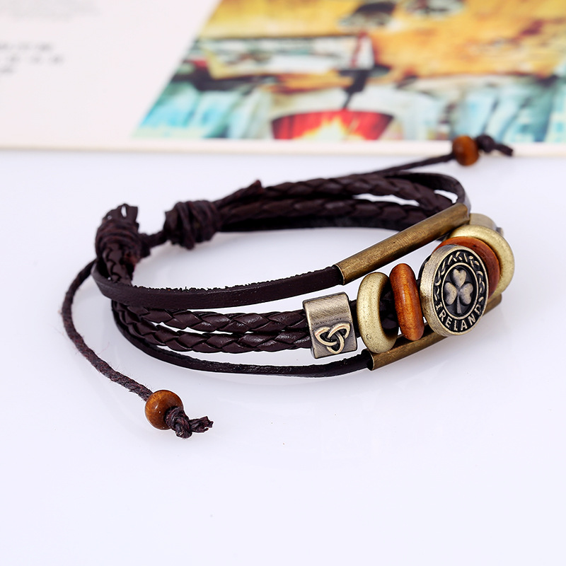 Europe and the United States Cortex plating Bracelet (brown)  NHPK0649
