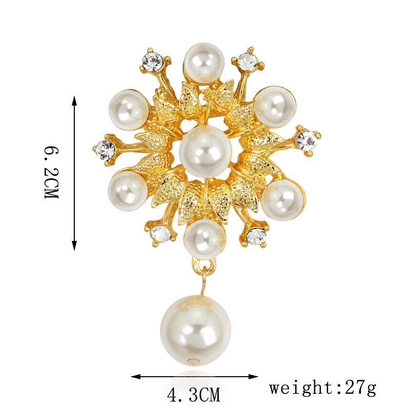 Occident alloy plating brooch NHDR0855