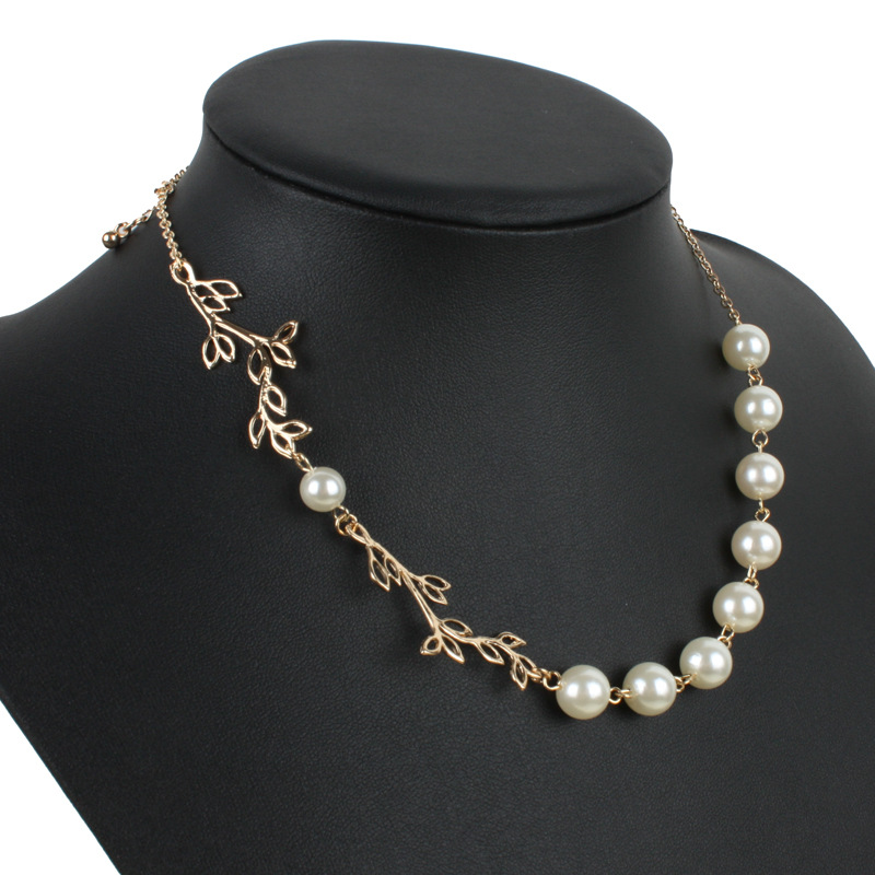 Occident and the United States pearlnecklace (white)NHCT0004-white
