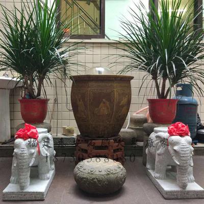 小石象庭院摆放 41公分高 价格实惠 泉州惠安厂家批发大象石雕