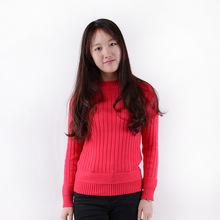 厂家批发春秋新款修身针织打底衫女韩版时尚百搭长袖套头女式毛衣