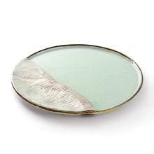 厂家批发日韩式创意手绘陶瓷酒店家用圆形盘餐具陶瓷碟盘子三分烧