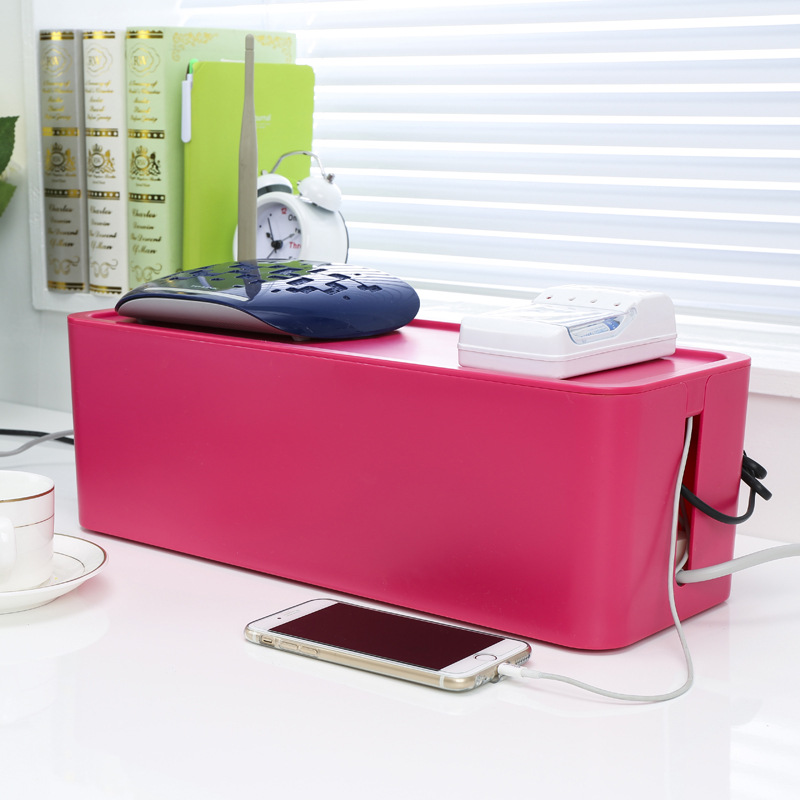 美安居 创意大号插座插线板排插电线集线盒理线器电源线收纳盒箱