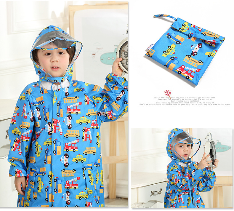 Toddler/Little Kids' cartoon Raincoat for Boys and Girls —— 3 Colors,Hooded,Have set 28