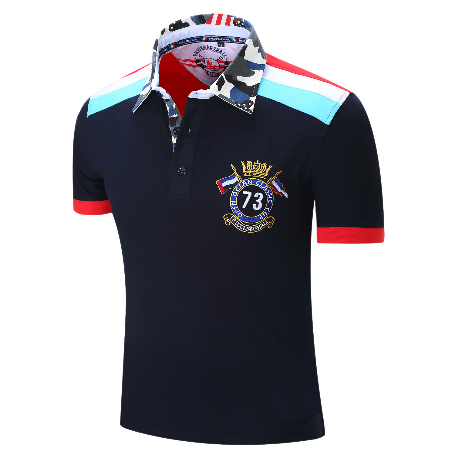 New men 39 s short sleeve polo t shirts 100 cotton us size for Us polo shirts for mens