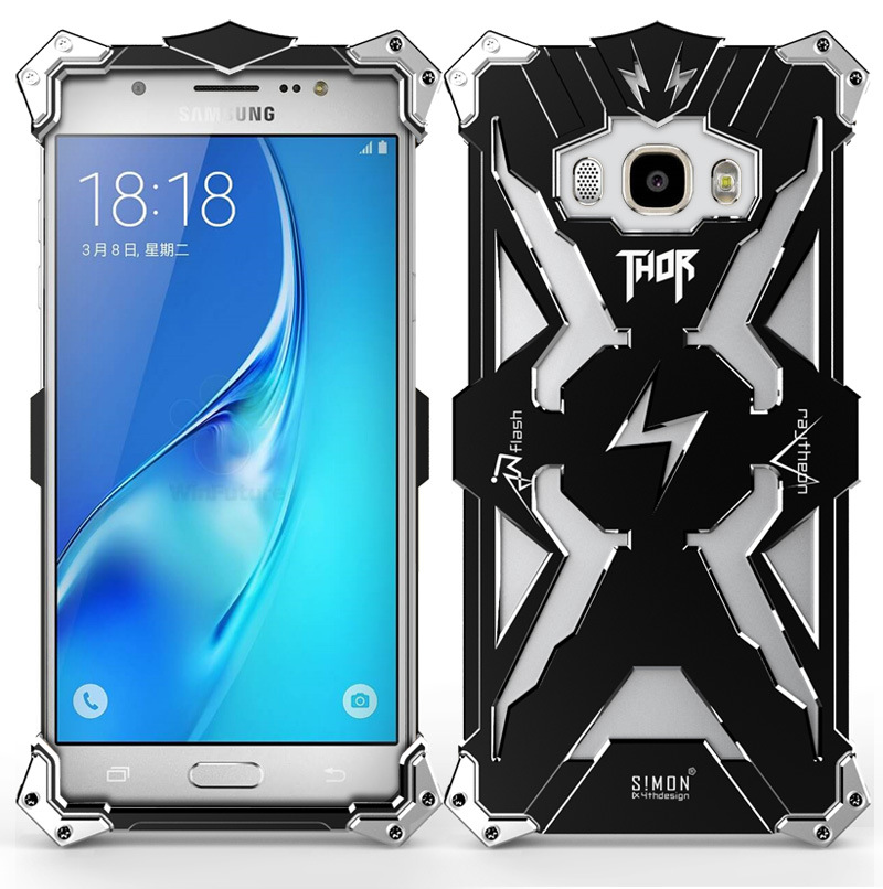 SIMON THOR Aviation Aluminum Alloy Shockproof Armor Metal Case Cover for Samsung Galaxy J7 & J5