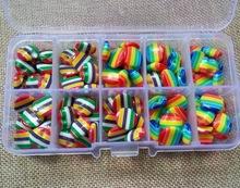 高檔樹脂扣 糖果色彩虹扣 兒童毛衣紐扣 七彩虹扣 13mm