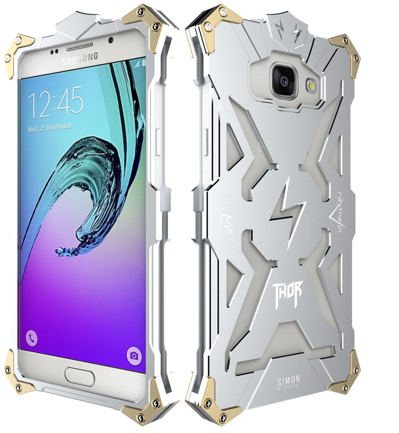 SIMON THOR Aviation Aluminum Alloy Shockproof Armor Metal Case Cover for Samsung Galaxy A5 (2016) A5100