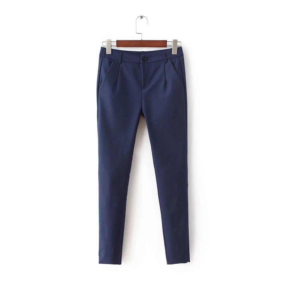 E3FEI- 193 欧美风高腰显瘦工装裤弹力修身休闲长裤女
