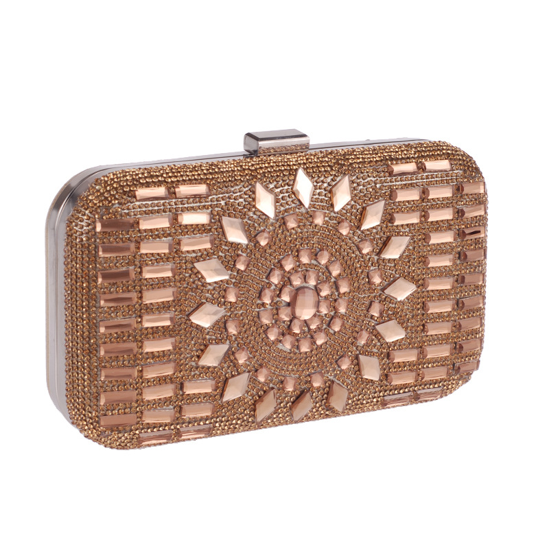 New rhinestone dinner bag banquet bag fashion clutch bag hard shell bag bride dress cocktail party bag NHYG178961