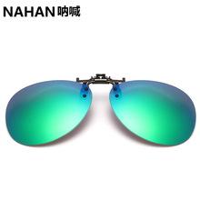 KC04炫彩鍍膜蛤蟆款偏光夾片式太陽鏡 近視金屬夾子超輕夾式眼鏡