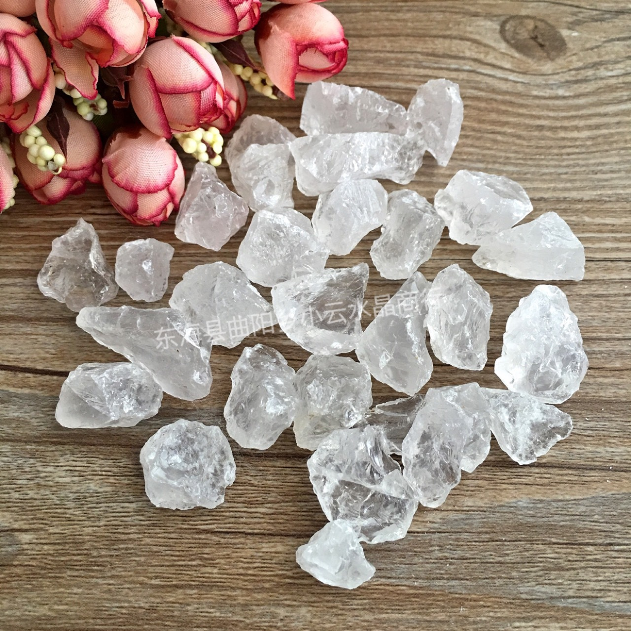 50g Lot Tibet Natural Clear Crystal White Quartz Points Terminated Wand Specim I