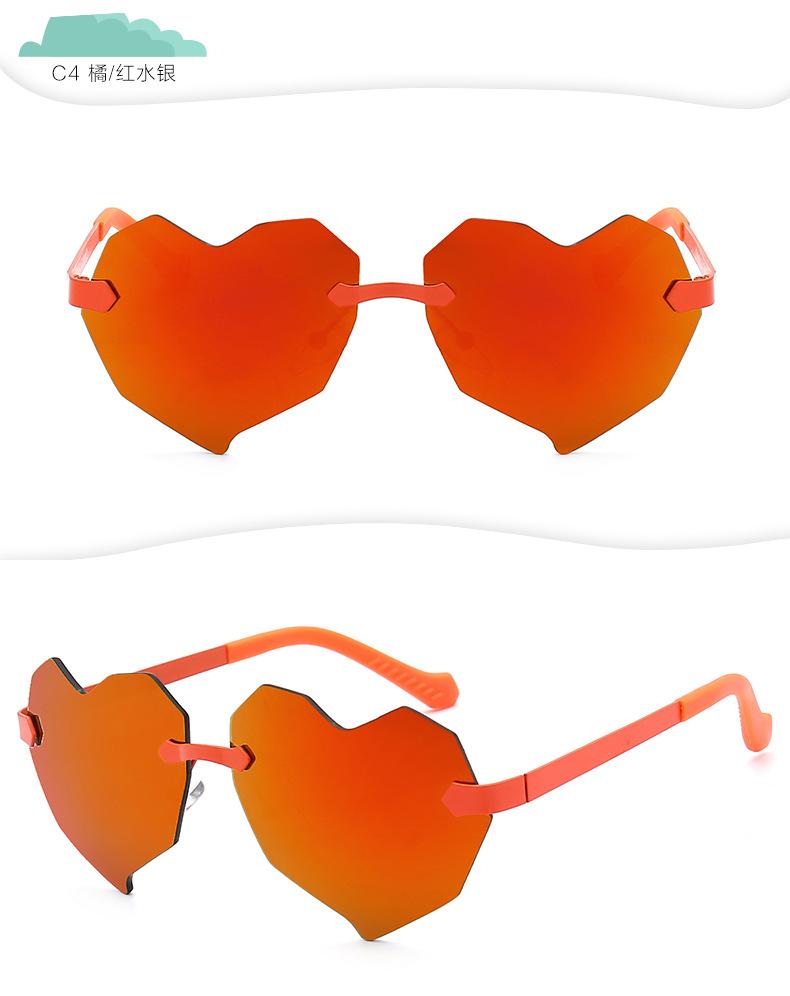 Love sunglasses children heart shaped colorful sunglasses wholesale NHFY202130