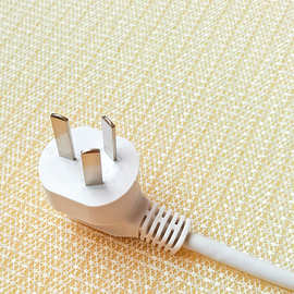 厂家直销 1.5米白色国标电源线 品字尾 梅花尾三插 AC 电源线