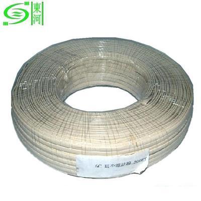 优质白色6芯扁线 厂家直销音视频线 耐低温负40度线材