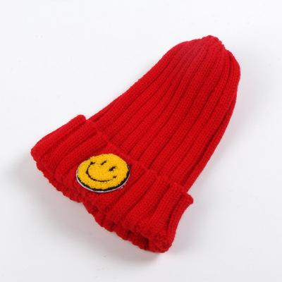 【锋华针织】儿童笑脸帽保暖时尚帽子甜美毛线针织帽冬韩版秋冬潮