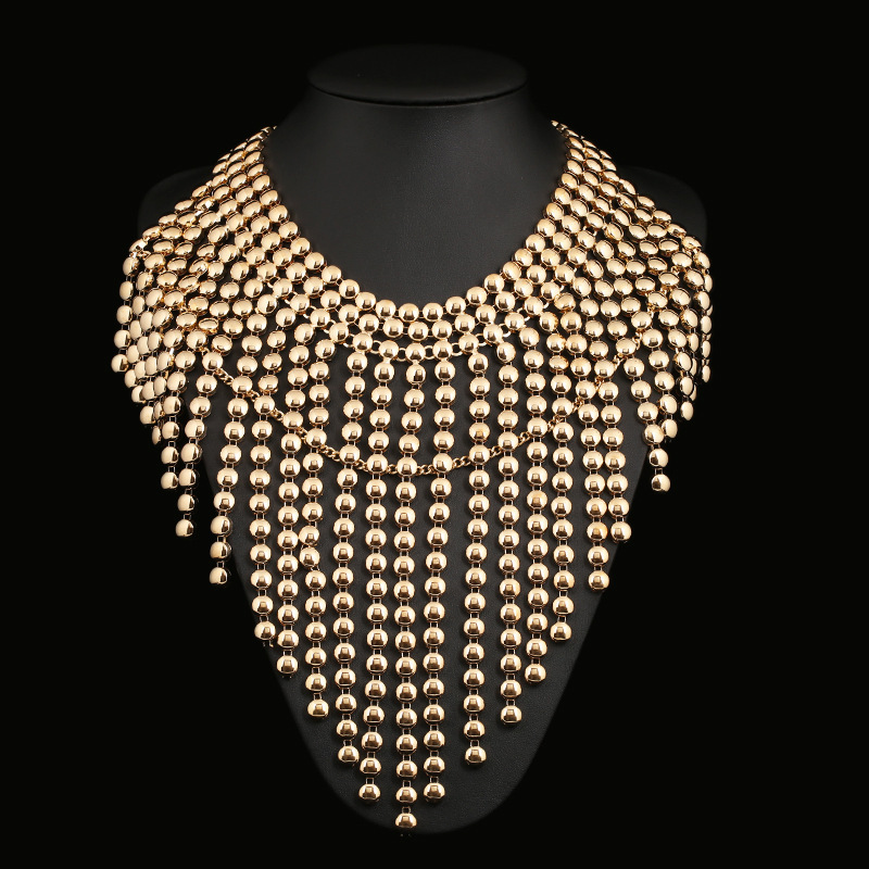 Fashion Alloy Diamond necklace(Gold)NHZT0256-Gold