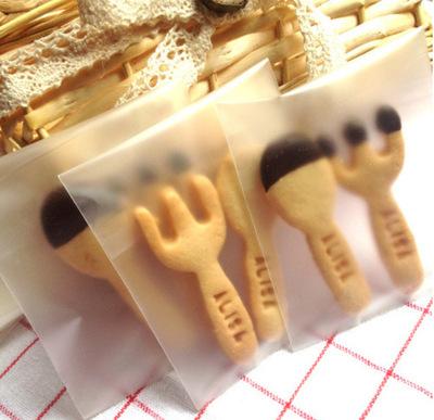 加厚磨砂曲奇饼干自封袋自粘袋100个装半透明无图案  多尺寸可选