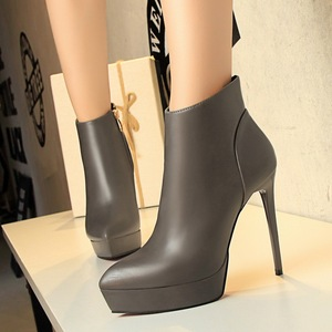 European and American fashion contracted style ultra fine sexy show women's boots