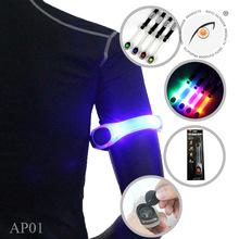 反光发光户外运动LED臂带 夜跑步骑行TPU发光臂带 安全发光手腕带