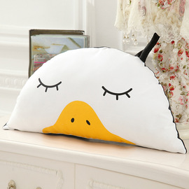 Ins models Meng duck watermelon Korean children's room crib duckling white bear semi-circle pillow pillow lumbar removable and washable