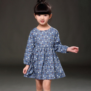 2017 Korean girls wear cotton dress Korean wave long sleeved summer autumn factory direct
