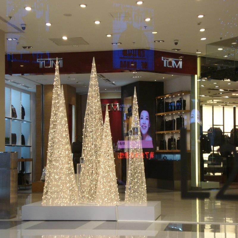 大型圣诞树万圣节气模圣诞铁艺拱门厂家定制3-25米LED彩灯装饰