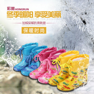 Factory outlets plus velvet boots warm and comfortable interior solid color cotton intercropping water shoes soft terry