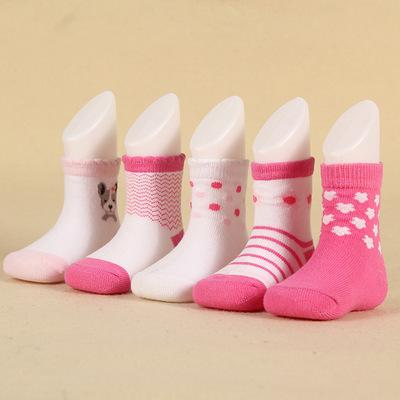 春秋季款甜美可爱女童袜 棉质条纹中筒儿童袜子厂家直销批发