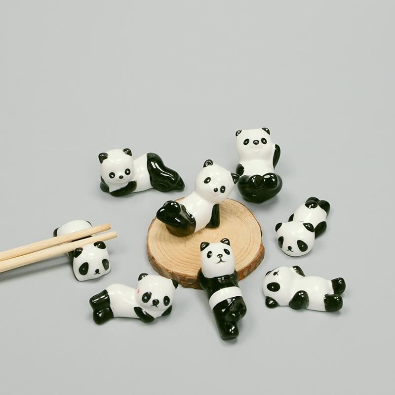 zazakka筷子架 德化陶瓷摆件工艺 熊猫筷托 创意礼品家居餐具