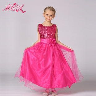 A generation of fat foreign trade female Tong Tong skirt flower girl dress princess dress belt pure color sequined dress