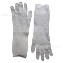 厂家直销白色加长五级防割包钢丝手套护臂护腕护袖玻璃厂专用劳保