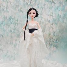 新款中国古装娃娃头3D真眼蛋糕烘焙DIY芭芘比洋娃娃裸娃素体头部