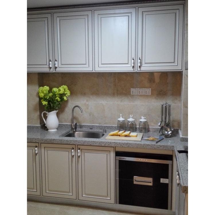 简欧风格实木厨房橱柜定制整体实木橱柜批发实木酒柜厂家欧式家具