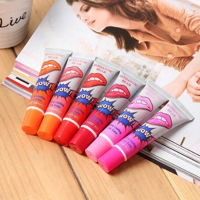 Tear-off lip gloss 6 colors Lipstick Tea...