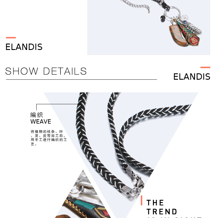 Alloy Fashion Geometric necklace  (Alloy + Red) NHTF0148-Alloy-Red