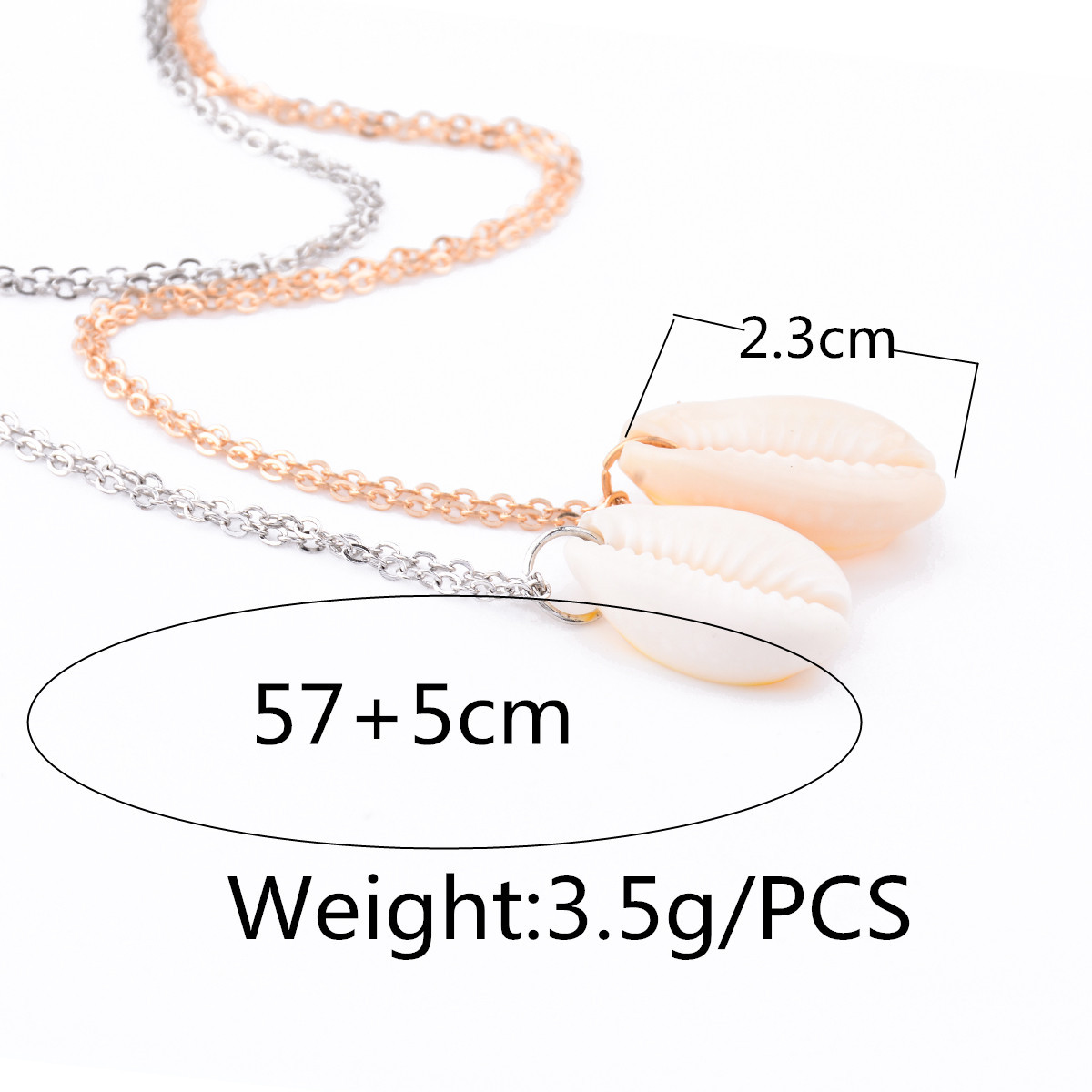 Womens geometric polished natural shell Necklaces XR190410116461