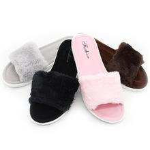 厂家直销秋冬季时尚布艺拖鞋 居家室内毛毛防滑保暖拖鞋 一件代发