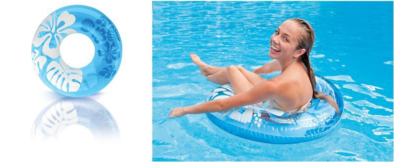 Shell water hibiscus flower float adult large swimming ring NHWW132811