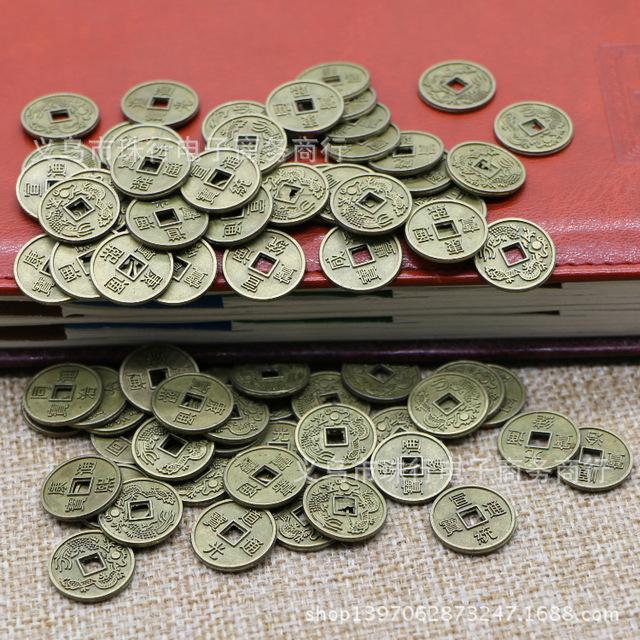 工厂直销直径15mm 古代合金铜钱十帝混装古钱币小铜钱批发