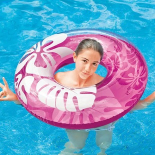 Shells playing in the water, hibiscus flower floating ring, adult large swimming ring, thickened lifebuoy, three-color swimming ring manufacturer wholesale