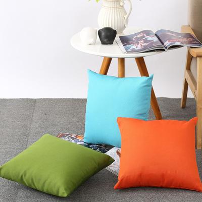 厂家直销可拆洗户外防水抱枕 批发定制简约纯色涤龙布艺抱枕靠垫
