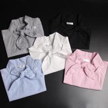 新款蝴蝶结假领子女 条纹假领 衬衣领 衬衫领 节约领