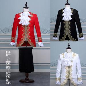 men's jazz dance suit blazers Male European gold inlaid palace Prince performance costume studio men dress stage costume Christmas King